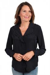 Pieces - Skjorte - PC Elna LS Shirt - Black