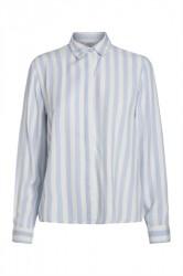 Pieces - Skjorte - PC Emina LS Shirt - Xenon Blue Stripes/Cloud Dancer