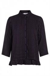 Pieces - Skjorte - PC Sanika 3/4 Shirt - Navy Blazer/Geo Tiles