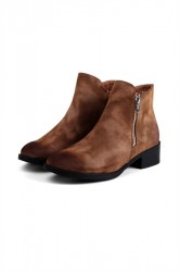 Pieces - Sko - PS Abby Boot - Cognac