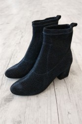 Pieces - Sko - PS Donna Glitter Boot - Night Sky