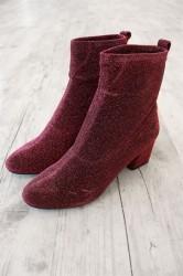 Pieces - Sko - PS Donna Glitter Boot - Nostalgia Rose