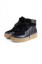 Pieces - Sko - PS Paloma Leather Sneaker - Black