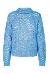Pieces - Strik - PC Henna LS O-Neck Knit - Alaskan Blue