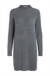 Pieces - Strik - PC Jane LS Long Wool Knit - Medium Grey Melange