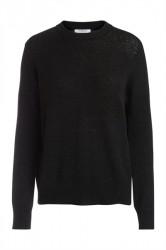 Pieces - Strik - PC Jane LS Wool Knit - Black