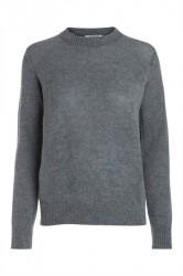 Pieces - Strik - PC Jane LS Wool Knit - Medium Grey Melange