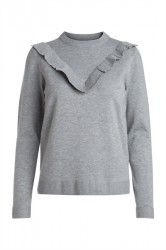 Pieces - Strik - PC Jolanda LS Knit - Medium Grey Melange