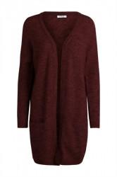 Pieces - Strik - PC Renee LS Long Wool Cardigan - Port Royal