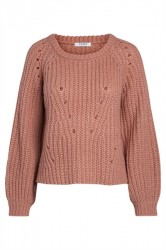 Pieces - Strik - PC Sura LS Knit - Ash Rose