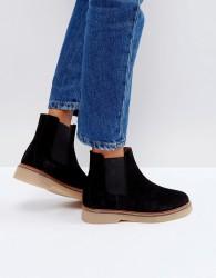 Pieces Suede Boots - Black