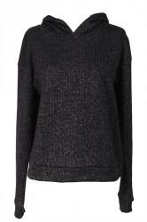Pieces - Sweatshirt - PC Rikka Sweat Hoodie - Black