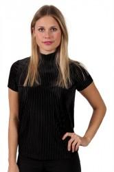 Pieces - T-shirt - PC Daniella T-neck Tee - Black