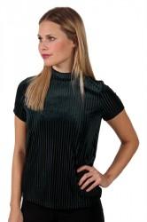 Pieces - T-shirt - PC Daniella T-neck Tee - Scarab