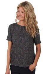 Pieces - T-shirt - PC Jen SS Top FF - Scarab - Flower