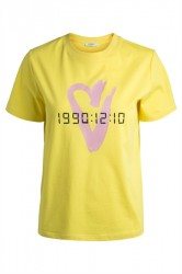 Pieces - T-shirt - PC Lizzy SS Print Tee - Lemon Zest Print