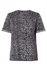 Pieces - T-shirt - PC Tia SS Tee - Lavender/Leopard