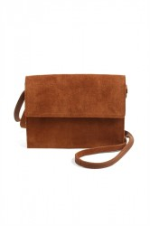 Pieces - Taske - PC Hea Suede Cross Body - Cognac