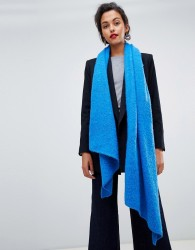 Pieces Textured Scarf - Blue