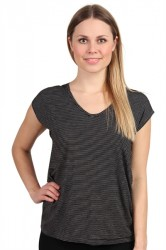 Pieces - Top - PC Billo Tee - Black Stripes/Bright White