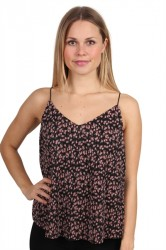 Pieces - Top - PC Lommo Slip Top - Copper Brown/Small Flower