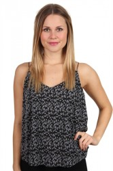Pieces - Top - PC Lommo Slip Top - Flint Stone/Small Flower