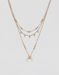Pieces Western Necklace - Gold
