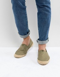 Pier One Canvas Espadrilles In Olive - Green