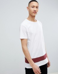 Pier One Colour Block T-Shirt In White - White