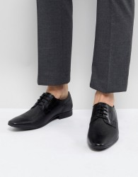 Pier One Embossed Leather Derby Shoes in Black - Black
