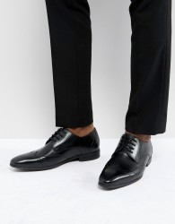 Pier One Leather Brogues In Black - Black
