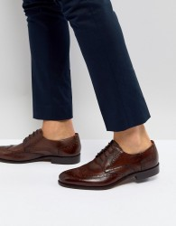 Pier One Leather Brogues In Brown - Brown