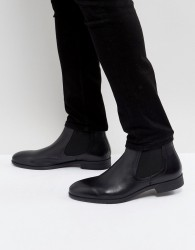 Pier One Leather Chelsea Boots In Black - Black