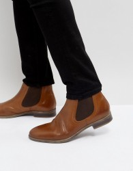 Pier One Leather Chelsea Boots In Tan - Tan