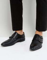 Pier One Leather Monk Shoes In Black - Black