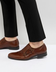 Pier One Leather Monk Shoes In Tan - Tan