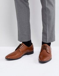 Pier One leather oxford shoes in tan - Tan