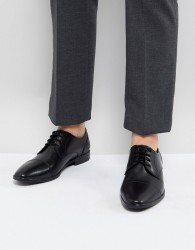 Pier One Leather Smart Toe Cap Shoes In Black - Black