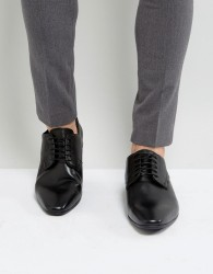 Pier One Leather Square Toe Shoes In Black - Black