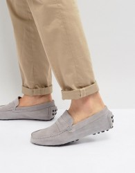 Pier One Moccasin Drivers In Grey Suede - Grey