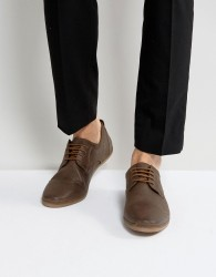Pier One Punched Lace Up Shoes In Brown Suede - Brown