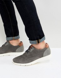 Pier One Suede Casual Lace Ups In Grey - Grey