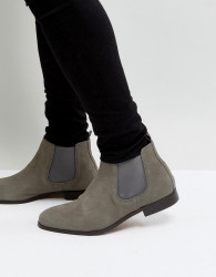 Pier One Suede Chelsea Boots In Grey - Grey