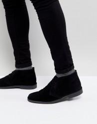 Pier One Suede Desert Boots In Black - Black
