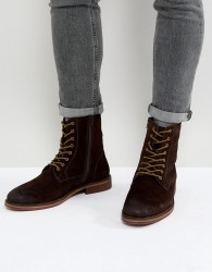 Pier One Suede Lace Up Boots In Brown - Brown