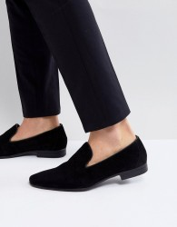 Pier One Suede Loafers In Black - Black