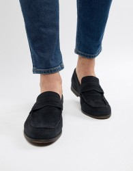 Pier One Suede Loafers In Navy - Navy