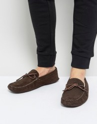 Pier One Suede Slippers In Brown - Brown
