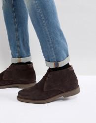 Pier One Suede Warm Lining Desert Boots In Brown - Brown