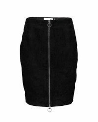 Pieszak Lenz suede zip skirt (SORT, 38)